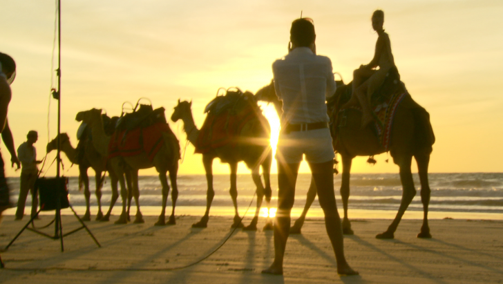 Daniela Federici in Broome, Australia - Bedouin Camel ride