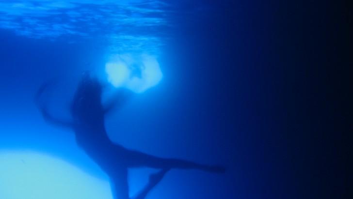 Daniela Federici in Blue Grotto, Capri